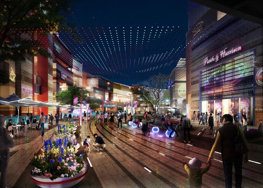 设计概念 乐堤港位于京杭大运河畔,在此项目中远洋地产着力体现现代空间对杭城悠然生活步调的尊重与回应。以此为起点,有机融合时尚、艺术元素,重视品位、自我个性与健康的价值主张乐活。室外景观的灯光设计概念亦遵循总体设计原则,提出以河水为主题的总体灯光设计概念。总体设计概念充分体现对环境友好,尊重城市文化的设计原则,提供品质、自然的体验空间,创造自我个性的艺术时尚天地。